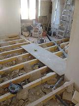Rénovation du plancher bas de l'appartement