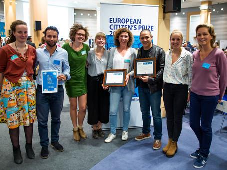 Vzw Humain behoort tot de 50 laureaten voor de Prijs van de Europese Burger - EP - 10/10/2018