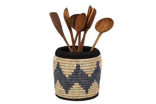 Slate kitchen utensil holder