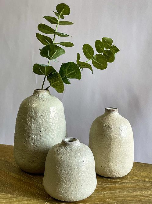 Florence Terra-Cotta Vases Set of Three