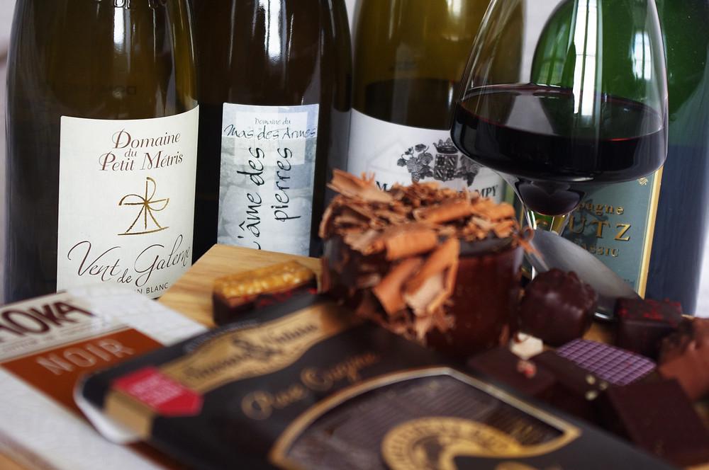 vin et chocolat