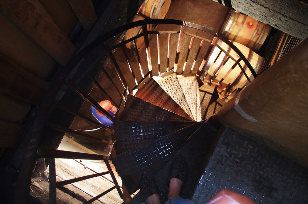 escalier en belles lies