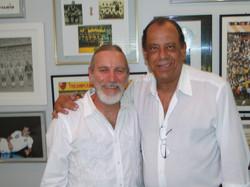 Steve Leighton with Carlos Alberto in Rio de Janeiro