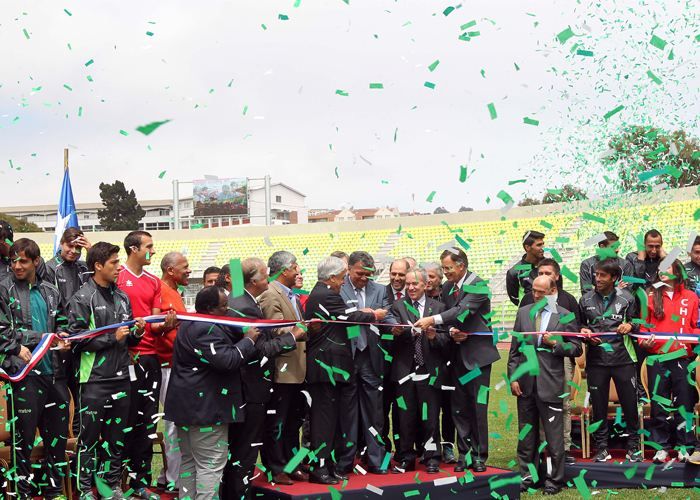 Elias Figueroa Stadium Official Openeing Ribbon Cutting