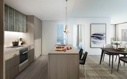 555 Collins - Kitchen cool scheme