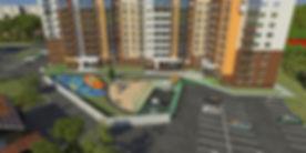"""ЖК """"Аксиома"""" Ижевск, жк аксиома, придомовая территория, двор, дворик, детская площадка, оборудованная, новостройка, огороженная, площадка, отдых, спортивная площадка, безопасный двор, подъезды, южная сторона, фасад"""