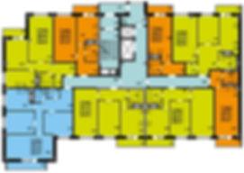 ЖК Гармония Ижевск Дом № 3 планировка 1я секция