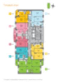 ЖК Добродом-3, планировка, поэтажная, поэтажка, планировки квартир, лестничная площадка, типовой этаж