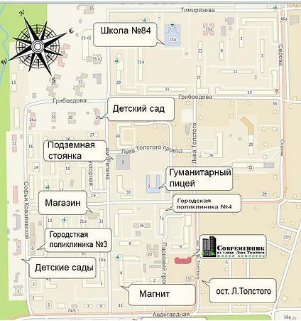 ЖК Современник расположение г. Ижевск IzhGid