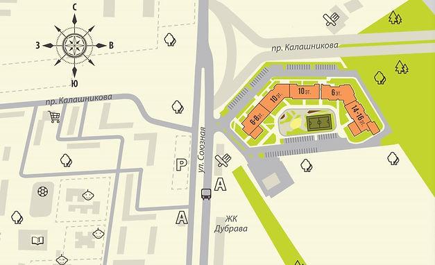 жк горизонты, европейский квартал, расположение, план, инфраструктура, район, ул. союзная, проспект Калашникова