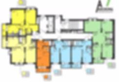 """ЖК """"Аксиома"""", 1я секция, планировка, поэтажка, поэтажная, расположение квартир"""