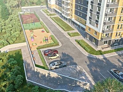 """ЖК """"Покровский"""" Ижевск, жк покровский, двор, придомовая территория, северный фасад, комос, новостройка, благоустройство"""
