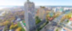 "ЖК ""OCEAN CITY"" Ижевск, оушен сити, ocean city, фасад жилого комплекса, проект, фасад, жк оушен сити, новостройка на Пушкинской, квартиры в новостройке, улица Пушкинская, новостройки Ижевска, стройка, внешний вид, вид сверху"