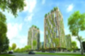 ЖК ECO life ВЕСНА, Ижевск, фасад жк эколайф, Карла Маркса, западный фасад, подъезды, 12ый микрорайон, проект, макет, со стороны улицы, придомовая территория, коммерческие помещения