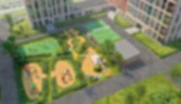 ЖК Скандинавия, двор, детская площадка, благоустройство