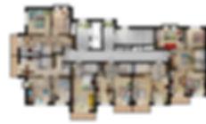 """ЖК """"Аксиома"""", планировки с мебелью, поэтажка, аксиома, 1я очередь, секция 1, расстановка мебели, планировочные решения"""