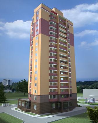 ЖК GreenPark, проект фасада, макет, жк гринпарк, визуализация