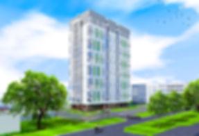 жк казанский, фасад, придомовая территория, макет, эскиз, проект, рк, римский квадрат