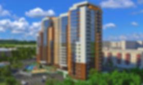 жк аксиома, двор, фасад, вид с юго востока, парковка, жилой комплекс, новостройка