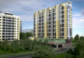 """ЖК """"Солнечный"""" Ижевск, фасад, жк солнечный, солнечный-2, Новостройки Ижевска, солнечный-3, западный фасад жилого комплекса, проект, макет, двор, паркинг"""