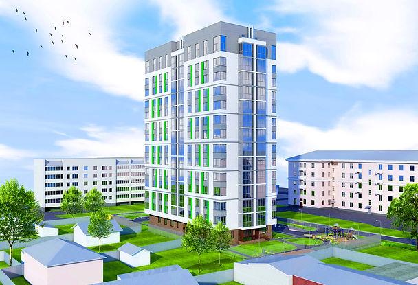 жк казанский, фасад, римский квадрат, квартиры от застройщика, эскиз, проект