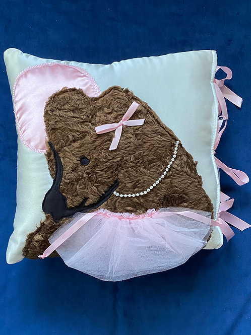 GIRL COUTURE BABY BEAR PILLOW