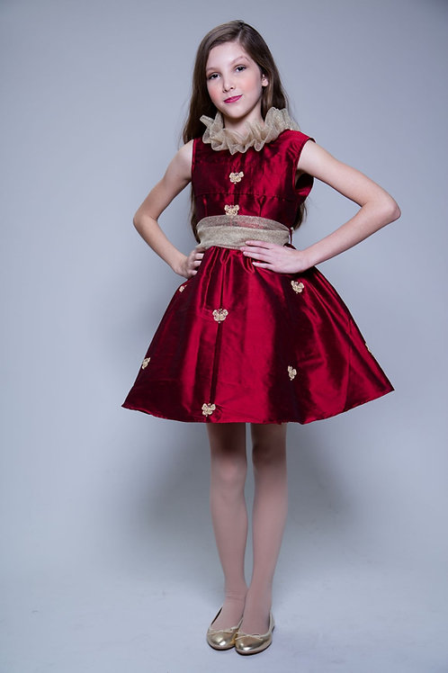 RUBY RED SILK DRESS