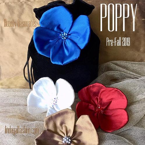 POPPY Mini Velvet Handbag (Lg. Flower)