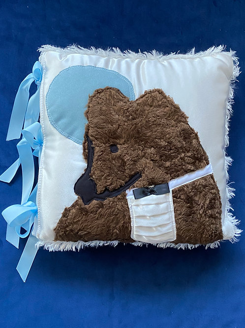 BOY COUTURE BABY BEAR PILLOW