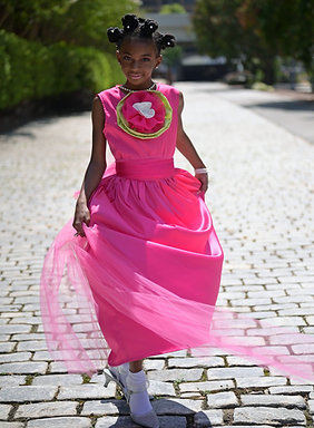 Hot Pink Satin Gown
