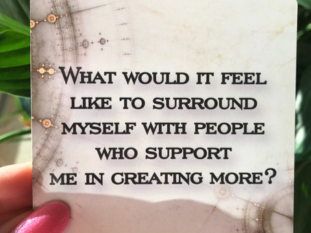 Surrounding yourself with support