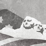 Mount Rushmore Presidents on Plaster Wal