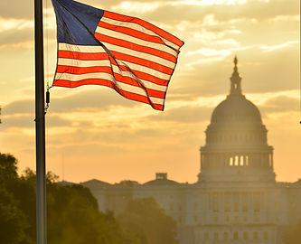 United States Capitol building silhouett