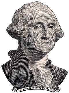 US President George Washington face on o