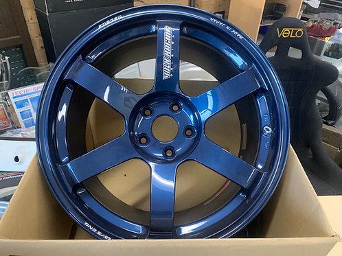 RAYS TE37 Dark Blue One-Piece Forged Rims (5x114.3/18x9.5/+22 offset)