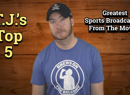 Greatest Sports Broadcasters From The Movies | T.J.'s Top Five