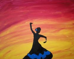Glowing Flamenco