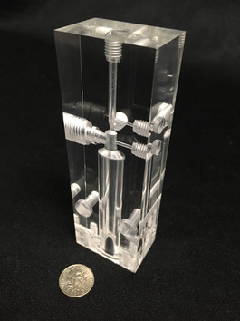 Acrylic Fluidic Manifold