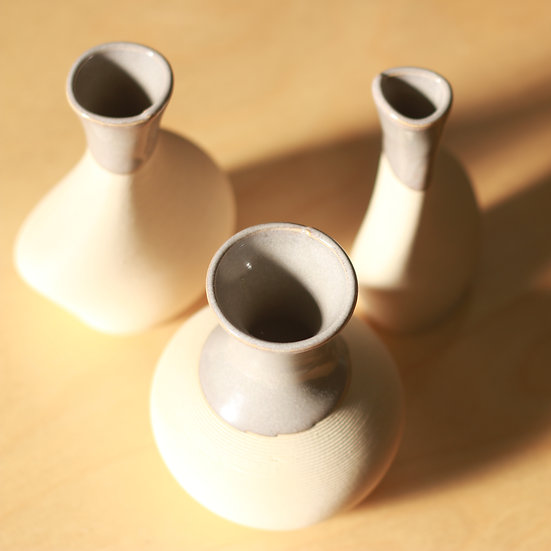 small vases - set of three