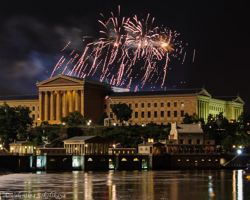 Fireworks at Art Museum