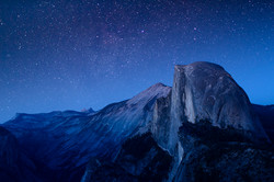 Sierra Night Half Dome Stars Night