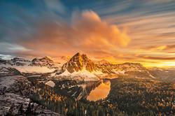 Sunset in Mount Assiniboine