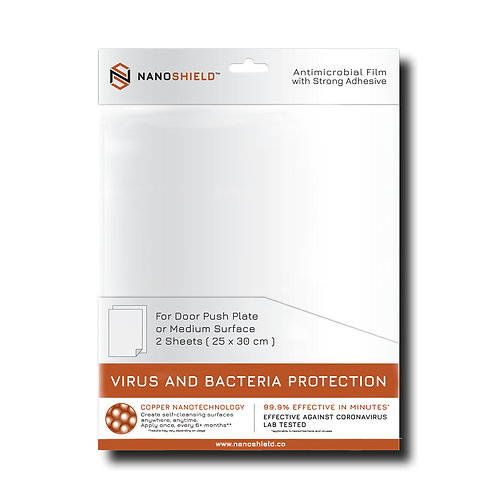 Nanoshield Film for Door Push Plate or Smooth Flat Surface