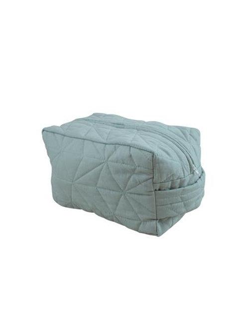 Cozy toalettmappe m/brodert navn, Økologisk bomull