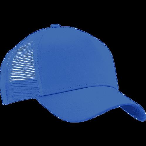 Trucker ensfarget caps med brodert navn/tekst