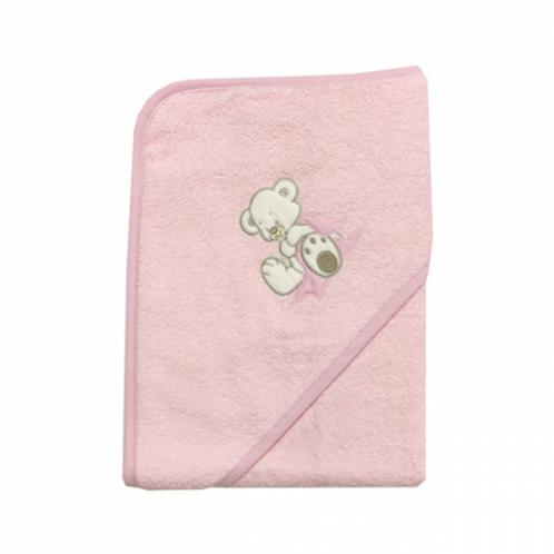 Hettehåndkle Nalle Rosa