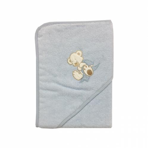 Hettehåndkle Nalle Blå