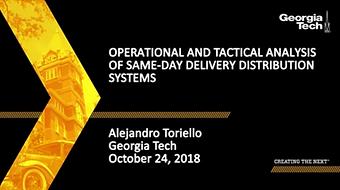 Análisis Operacional y Táctico de los Sistemas de Distribución en el Mismo Día