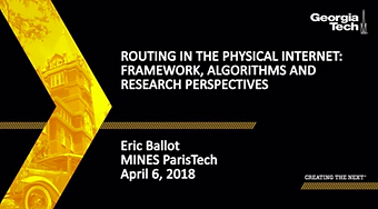 Enrutamiento en la Internet Física: Marco Conceptual, Algoritmos y Perspectivas de Investigación