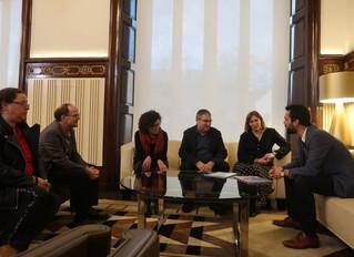 Audiencia de la Federació Espectre Autista Asperger de Catalunya amb President Parlament Roger Torre